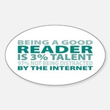 Good Reader Oval Decal
