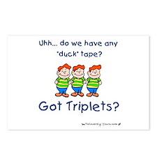 Got Triplets? - 3 Boys Duck T Postcards (Package o