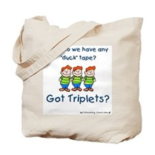 Got Triplets? - 3 Boys Duck T Tote Bag