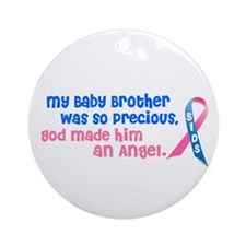 SIDS Angel 1 (Baby Brother) Ornament (Round)