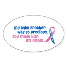 SIDS Angel 1 (Baby Brother) Oval Decal