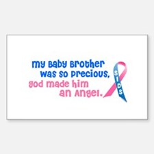SIDS Angel 1 (Baby Brother) Rectangle Sticker 10