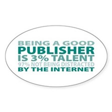 Good Publisher Oval Decal
