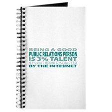 Good Public Relations Person Journal