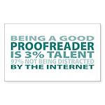 Good Proofreader Rectangle Sticker 50 pk)