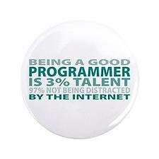 """Good Programmer 3.5"""" Button"""