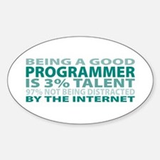 Good Programmer Oval Decal