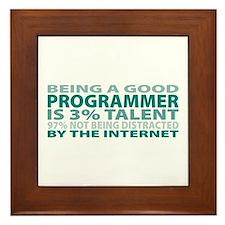 Good Programmer Framed Tile