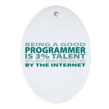 Good Programmer Oval Ornament