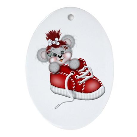 LITTLE SNEAKER (red) Oval Ornament