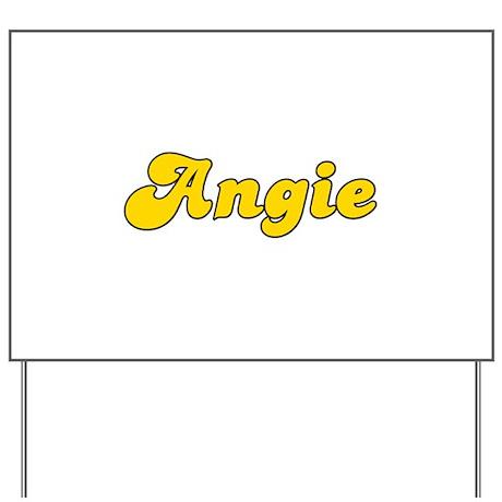 Retro Angie (Gold) Yard Sign