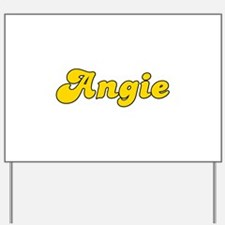 Retro Angie (Gold) Yard Sign