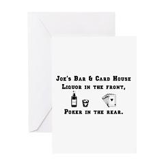 Joe's Bar & Card House. Liqu Greeting Card