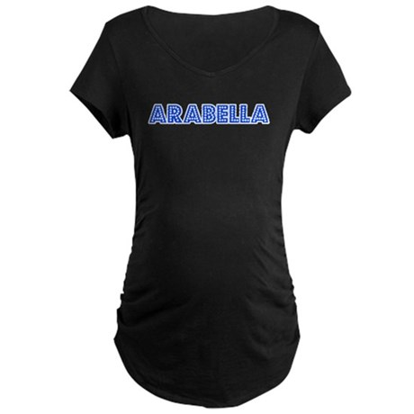 Retro Arabella (Blue) Maternity Dark T-Shirt