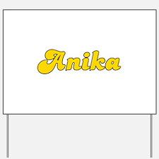 Retro Anika (Gold) Yard Sign