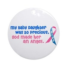 SIDS Angel 1 (Baby Daughter) Ornament (Round)