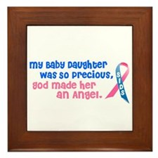 SIDS Angel 1 (Baby Daughter) Framed Tile