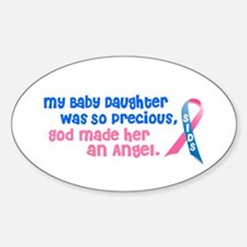 SIDS Angel 1 (Baby Daughter) Oval Decal