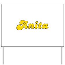 Retro Anita (Gold) Yard Sign