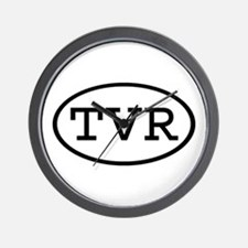 TVR Oval Wall Clock