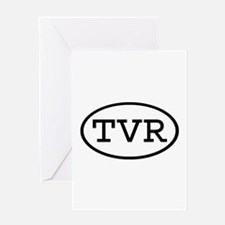 TVR Oval Greeting Card