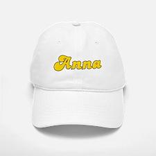 Retro Anna (Gold) Baseball Baseball Cap