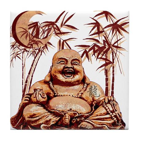 Riyah-Li Designs Happy Buddha Tile Coaster