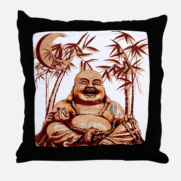 Riyah-Li Designs Happy Buddha Throw Pillow
