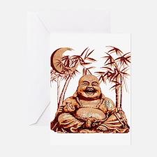 Riyah-Li Designs Happy Buddha Greeting Cards (Pk o
