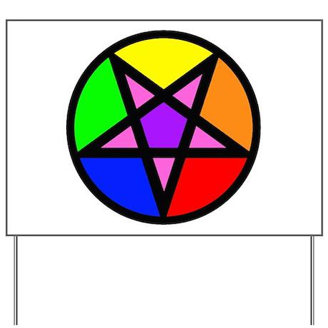 Gay Satanist Yard Sign