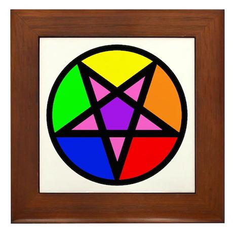 Gay Satanist Framed Tile