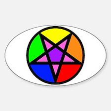 Gay Satanist Oval Decal