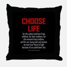 Choose Life, Iraqis, soldiers Throw Pillow