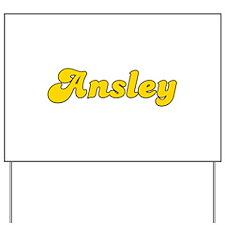 Retro Ansley (Gold) Yard Sign