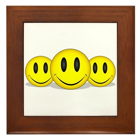 Happy Faces Framed Tile