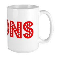 Retro Lyons (Red) Mug