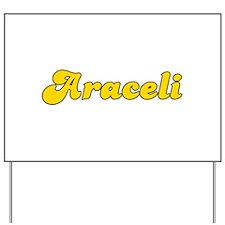 Retro Araceli (Gold) Yard Sign