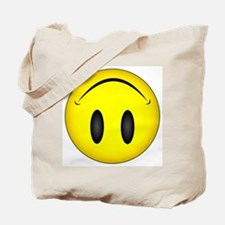 Upside Down Happy Face Tote Bag