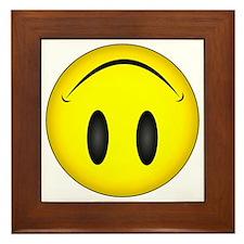 Upside Down Happy Face Framed Tile