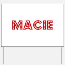 Retro Macie (Red) Yard Sign