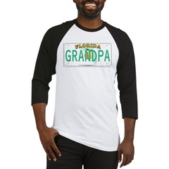 Grandpa Florida Vanity Plate Baseball Jersey