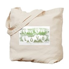 Live Life with Love (Vintage) Tote Bag