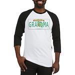 Grandma Florida Vanity Plate Baseball Jersey