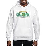 Grandma Florida Vanity Plate Hooded Sweatshirt