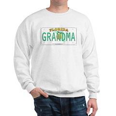 Grandma Florida Vanity Plate Sweatshirt