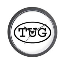 TUG Oval Wall Clock