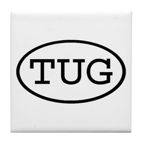 TUG Oval Tile Coaster