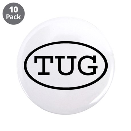 """TUG Oval 3.5"""" Button (10 pack)"""