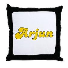 Retro Arjun (Gold) Throw Pillow