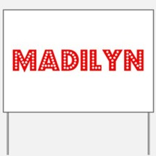 Retro Madilyn (Red) Yard Sign